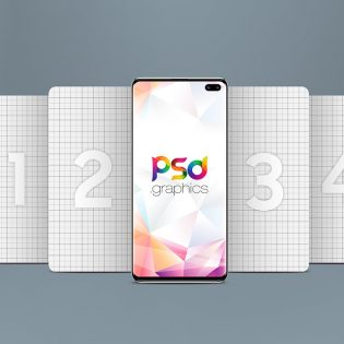 Free Galaxy S10 Plus Mockup Template