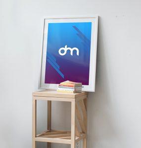 White Poster Frame Mockup