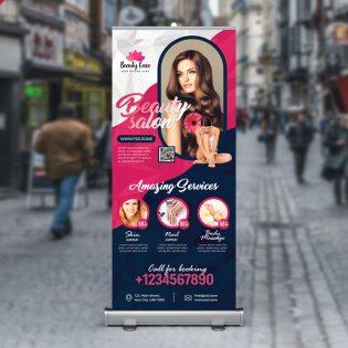 Beauty Salon Roll Up Banner Template