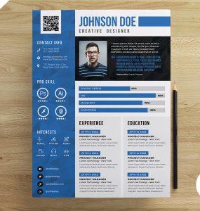 Creative Designer Resume CV PSD Template
