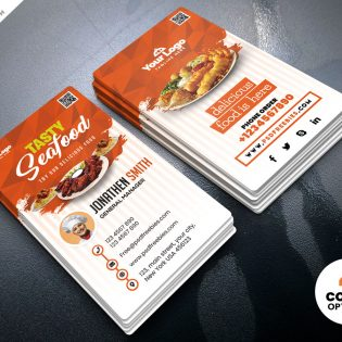 Fast Food Restaurant Business Card Template