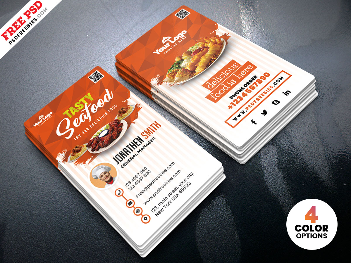 It is a picture of Comprehensive Food Card Template