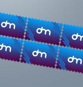 Postage Stamp Mockup Template