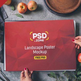 Landscape Poster Mockup Template