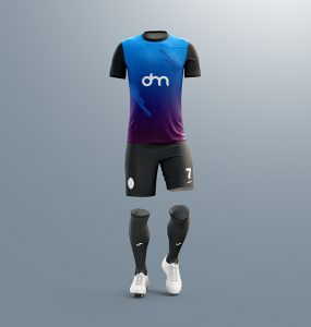 Men's Full Soccer Kit Mockup