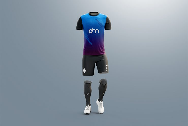 Men's Full Soccer Kit Mockup