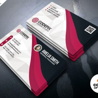 Multicolor Business Card Template PSD
