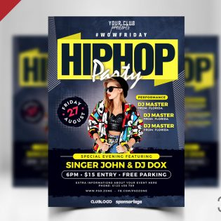 Nightclub Party Flyer PSD Template