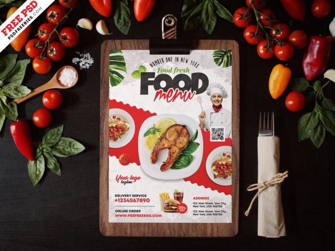 Restaurant Food Menu Template Design