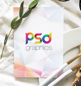 Restaurant Menu Card Mockup PSD