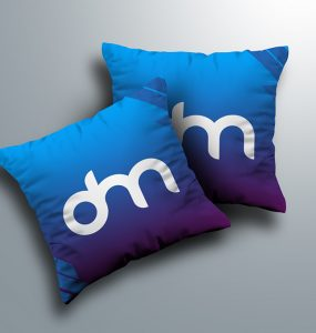 Square Pillow Mockup Template PSD