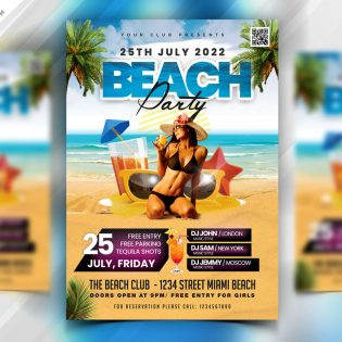 Summer Beach Party Flyer Template