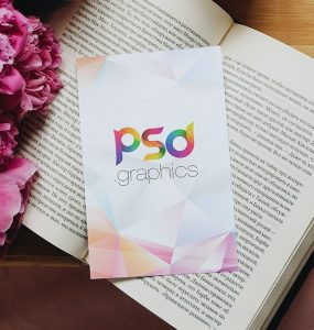 Beautiful Postcard Mockup PSD