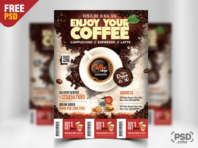 Coffee Shop Flyer PSD Template