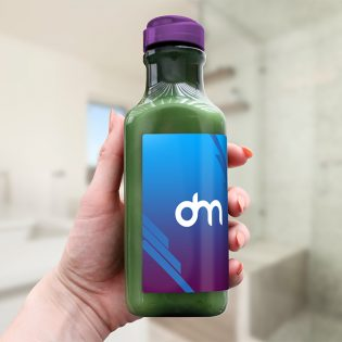 Drink Bottle Label Mockup