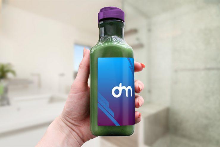 Drink Bottle Label Mockup
