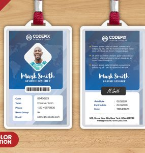 Free Corporate ID Card PSD Template