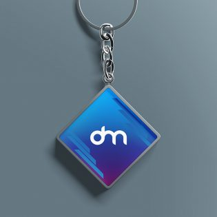 Keychain Mockup PSD Template