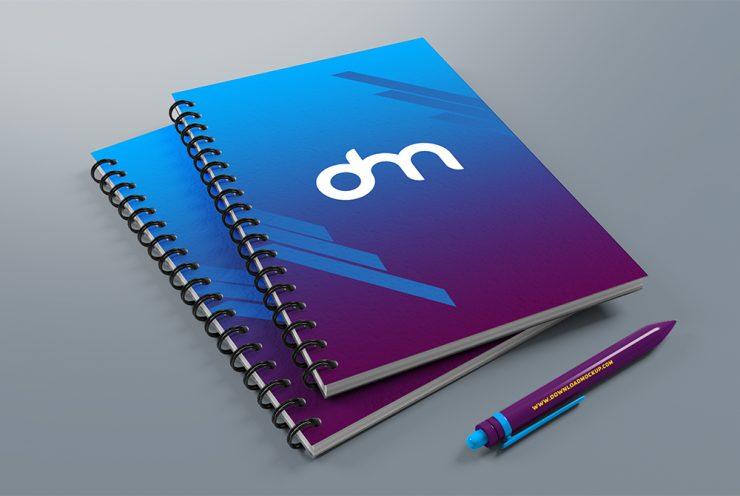 Spiral Notebook Mockup PSD Template