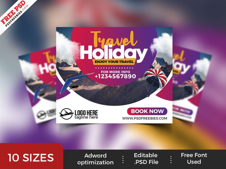 Travel Agency Web Banner Templates