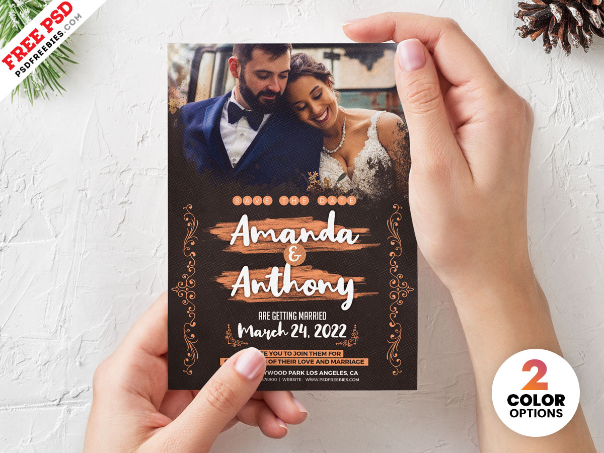 Wedding Invitation Card Template Psd Download Psd