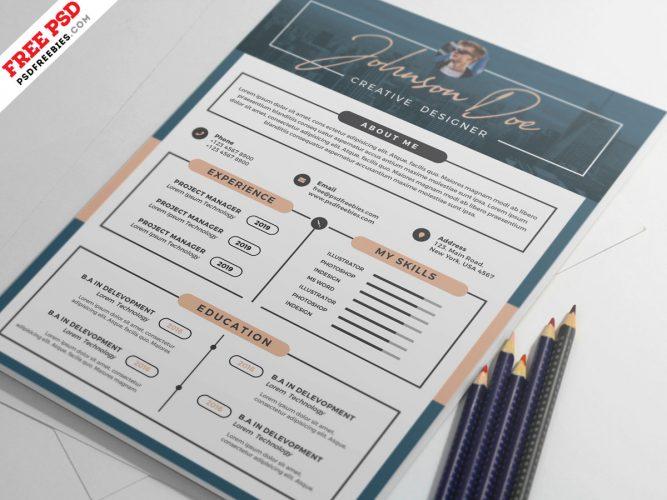 Creative Designer Resume Template PSD