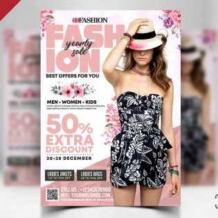 Fashion Clothing Sale Flyer Template
