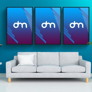 Wall Poster Frame Mockup Template