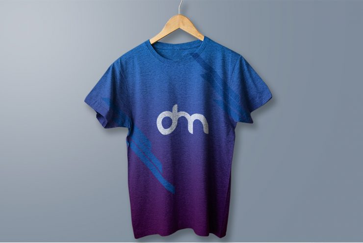 Hanging Cotton T-Shirt Mockup