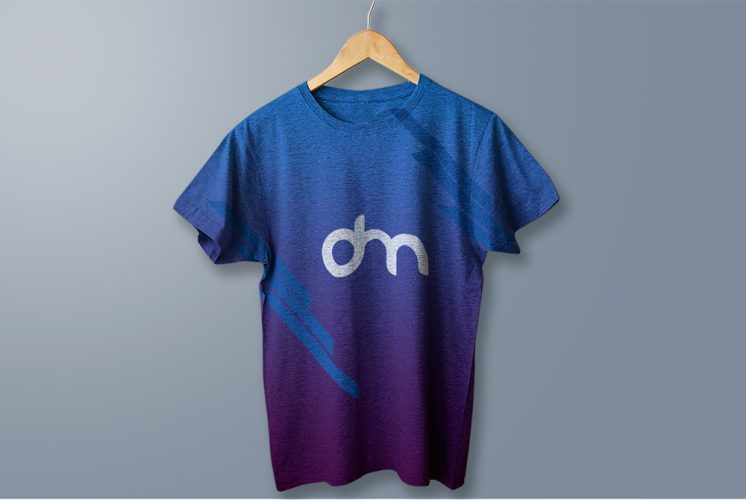 Hanging Cotton T-Shirt Mockup