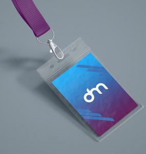 ID Card Holder Mockup Template