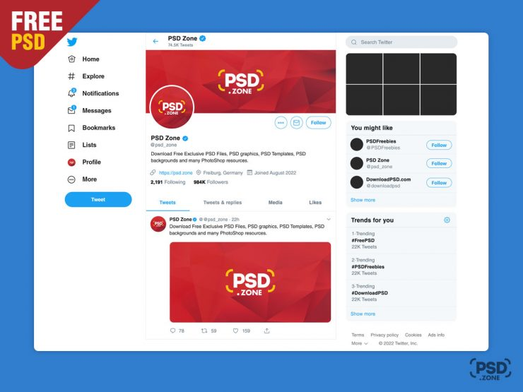 New Twitter Mockup 2019 Template