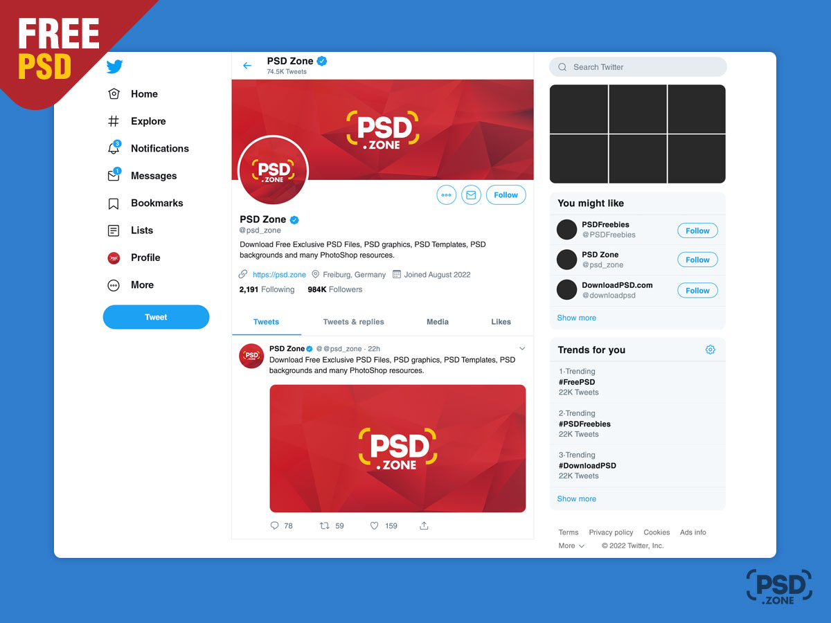 New Twitter Mockup 2019 Template - Download PSD