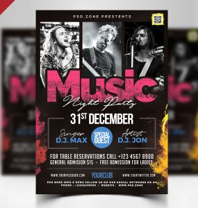 Night Club Party Flyer Design Template