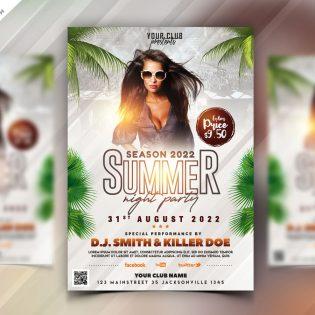 Summer Party Flyer Design Template