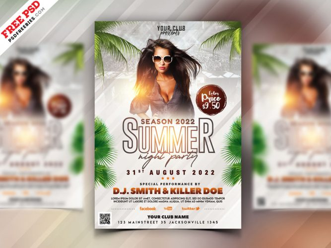 Summer Party Flyer Design Template