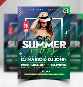 Summer Party Flyer Template Design