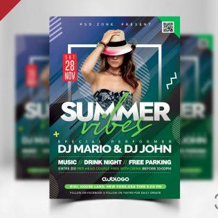 Summer Party Flyer Template Design