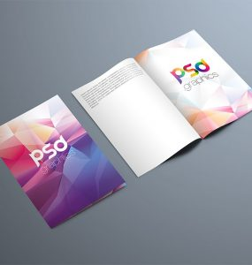 Bi-Fold Brochure Mockup PSD Template