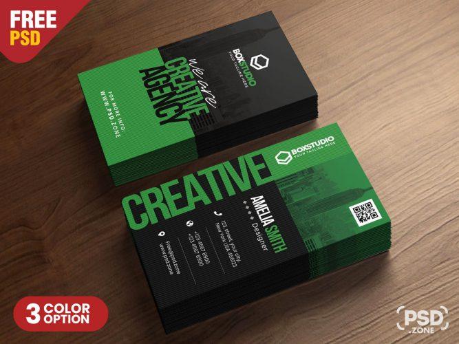 Creative Vertical Business Card Template