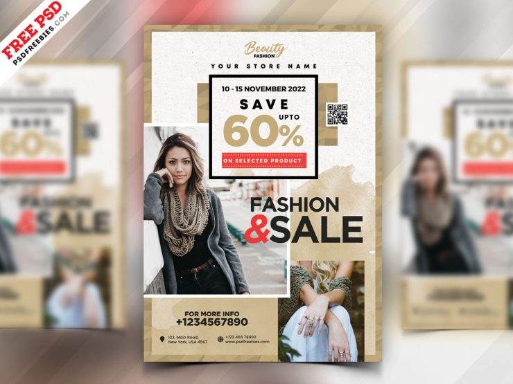 Fashion Sale Flyer Design Template