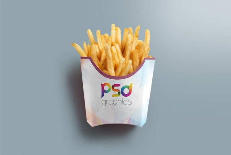 French Fries Packaging Mockup Template