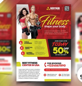 Gym Fitness Center Flyer Design Template