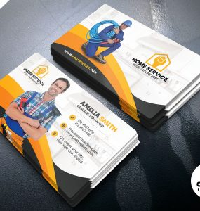 Home Maintenance Business Card Design Template