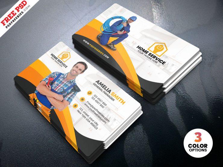 Home Maintenance Business Card Design Template