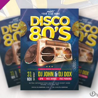 Classic Disco Party Flyer Template