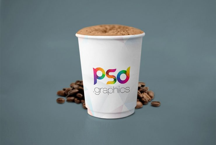 Paper Coffee Cup Mockup Template