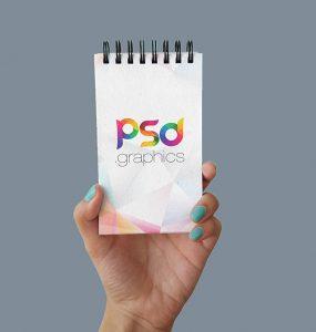 Pocket Spiral Notebook Mockup