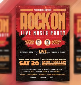 Rock Music Concert Flyer Template