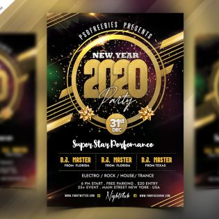 2020 New Year Party Flyer Template